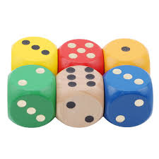 details about 6pcs colorful giant wooden yard dice yard outdoor fun toy s