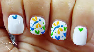 Cute Dragonfly and Heart Nail Art | Easy Nail Art for Short Nails ...