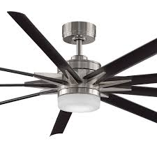 the brushed nickel with black blades odyn 84 dc ceiling fan with by fanimation is