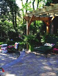 paver patio with pergola. Paver Patio And Timber Frame Pergola Project Archives Garden Design Inc Pa With