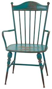 industrial modern furniture. Rustic Teal Blue Metal Farmhouse Industrial Modern Arm Chairs - Set Of 2 Furniture I