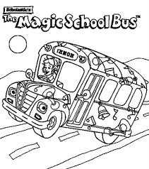 Small Picture School Bus The Magic School Bus is on Action Coloring Page The