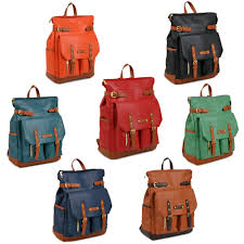 womens celebrity vintage style gorgeous faux leather school backpack book bag