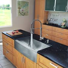 vigo 33 inch farmhouse a single bowl 16 gauge stainless steel kitchen sink with edison chrome faucet grid strainer and soap dispenser single bowl