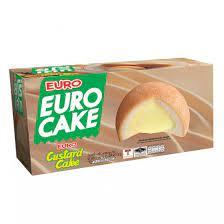 ยูโร่ (Euro) พัฟเค้กสอดไส้ครีมคัสตาร์ด ขนาดซองละ 17 กรัม กล่องละ 12 ซอง  (204 กรัม) ขายยกลัง ๆ ละ 12 กล่อง