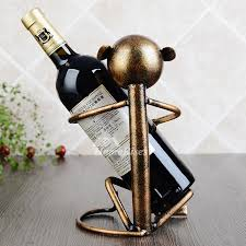 Small wine racks Wall Pictures Show Small Wine Holder Homerises Small Wine Holder Decorative Monkey Designer Metal Iron Free Stand