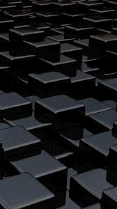 Black 3D Cubes iPhone Wallpapers ...