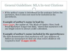 Citing Textual Evidence Using Mla Format Ppt Download