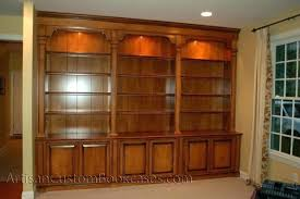 custom built in bookcases nyc wall unit