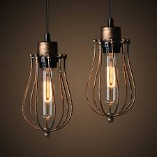 winsoon 1pc modern style hanging metal lamp vintage loft ceiling pendant light retro cage all s