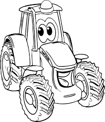 Small Picture Coloring Pages Boys Smile John Deere Tractor Coloring Page