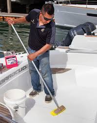 squeaky clean non skid is paramount to a safe boating experience allowing dirt and grime to build up in the valleys of a non skid s textured surface