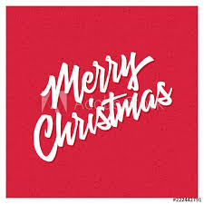 Merry Christmas Banner Print Merry Christmas And Happy New Year Hand Lettering Greeting Card