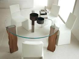 image of glass modern round dining table contemporary sets uk
