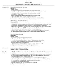 Manual Testing Resume Format Manual QA Resume Samples Velvet Jobs 20