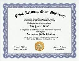 buy public relations officer pr degree custom gag diploma  public relations officer pr degree custom gag diploma doctorate certificate funny customized joke gift