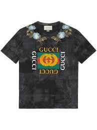 gucci shirt. cotton tie-dye t-shirt with gucci logo shirt t