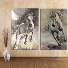 myheart com 2018 03 19 05 26 35 094930 vintage abstract horse oil painting on canvas