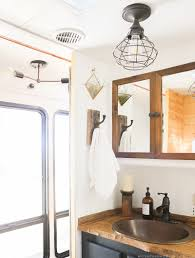 Changing Light Fixtures In Rv How To Update Rv Interior Lighting Mountainmodernlife Com