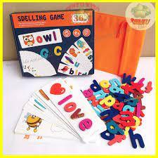 Đồ chơi thông minh Spelling Game SENZUKIDS xếp hình chữ tiếng anh cho bé 3  tuổi (bộ cú mèo) chính hãng 109,000đ