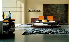 Japanese bedroom furniture design in modern minimalist interior style