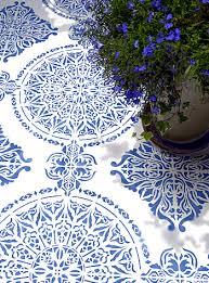large moroccan ornamental tile design