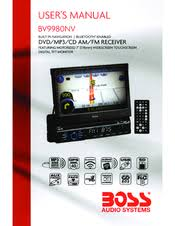 boss audio systems bv9980nv manuals
