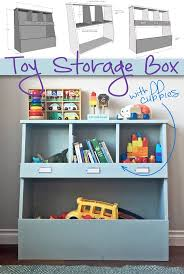 *diy toy storage plans*Toy Storage Box with Cubbies: Keep your home  organized and your kids' toys out of the way with this simple, yet stylish DIY  storage ...
