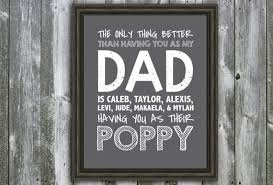 Grandpa Quotes Amazing Personalized DAD Poppy Grandpa Papa Quote Wall Art Etsy