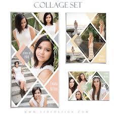 Senior Collage Template Set Diamonds 3 Photoshop