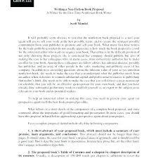 Nonfiction Book Proposal Sample Pdf Beautiful Sample Project