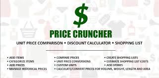 Price Cruncher Shopping List Price Comparison Shopping