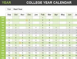 College Year College Year Calendar
