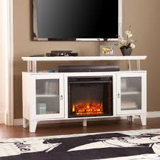 w media electric fireplace in white