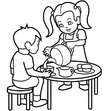 Download transparent hello kitty png for free on pngkey.com. Tea Party Coloring Pages Coloring Home
