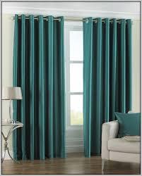 teal faux taffeta silk curtains