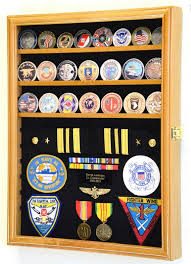 display case military challenge coin ribbon insignia
