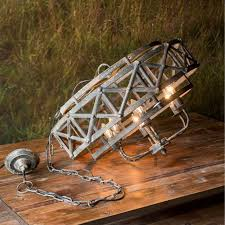 industrial trestle chandelier