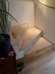 Treppe belegen lassen mit teppich, vinyl, pvc und linoleum. Betontreppe Mit Parkett Belegt Treppenrenovierung Treppenverkleidung