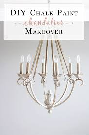 chalk paint chandelier