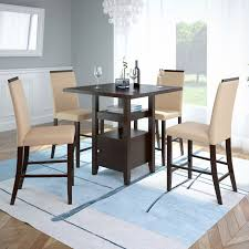 Corliving Bistro 5pc 36 Counter Height Rich Cappuccino Dining Set