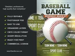 Free Baseball Flyer Template Baseball Flyer Template Pin By Best Graphic Design On Sport