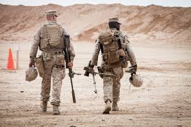 Marine Corps Scout Sniper File U S Marine Corps Cpl Darek Kelsey Left And Lance Cpl