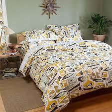 peaceful design mid century modern duvet covers com atomic dreams sheet set twin home kitchen