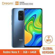 <b>Global Version Xiaomi</b> Redmi Note 9 3GB RAM 64GB ROM NFC ...