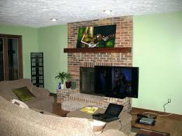 tv above fireplace mantel counterp pant tv over fireplace mantel height