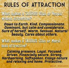 Rule Of Attraction For Taurus Taurse Birth Chart