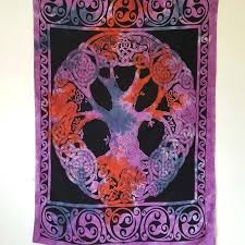 celtic tapestry wall hangings purple black tree of life cotton wall hanging celtic tapestry wall hangings