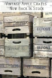 vintage crates for old apple