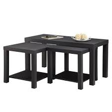 Coffee Table Set Of 3 Altra Furniture Coffee Table And End Table Set In Black 3 Piece